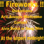 Donations Appreciated for Fireworks Show on December 31st!