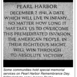 December 7, Pearl Harbor Remembrance Day