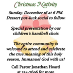 Christmas Nativity and Children's Bell Choir to Ring in the Celebration of Christmas