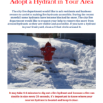 Adopt A Fire Hydrant Today