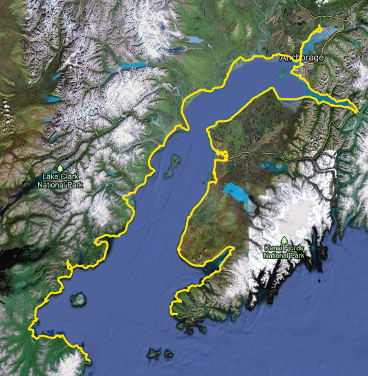 Hig and Erins Cook Inlet Trip Map