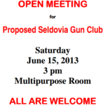 Seldovia Gun Club – Open Meeting
