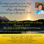 Ann's Memorial Service