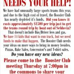 Booster Club Fundraising Efforts