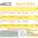 SOCC March Calendar 2014