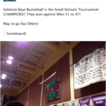 Seldovia Sea Otters Boys Basketball Team are the Champions!
