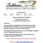SRSA Special Meeting Notice