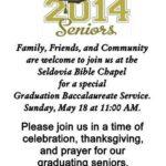 Baccalaureate Celebration at SBC this Sunday