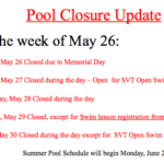 SBE School Pool Schedule for Summer 2014