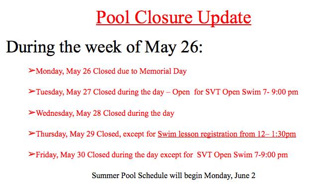 Pool Closures