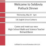 Community Potluck to Welcome our Math/Science Teacher to Seldovia