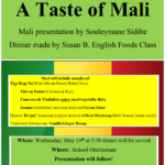 A Taste of Mali – Wednesday Night!