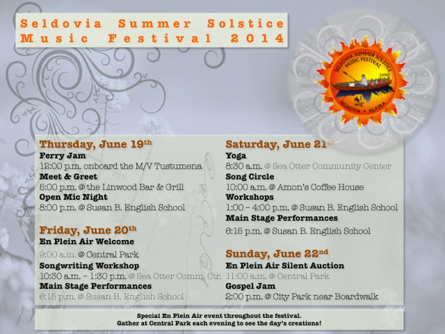 Seldovia Summer Solstice Music Festival Schedule of Events