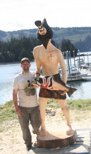 Rob Younkins with the Raven God legend - how mankind received the first salmon