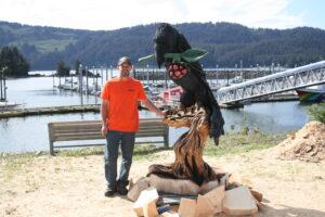 Derrick Stanton with his Alaskan Raven -photo by Chris Crosta