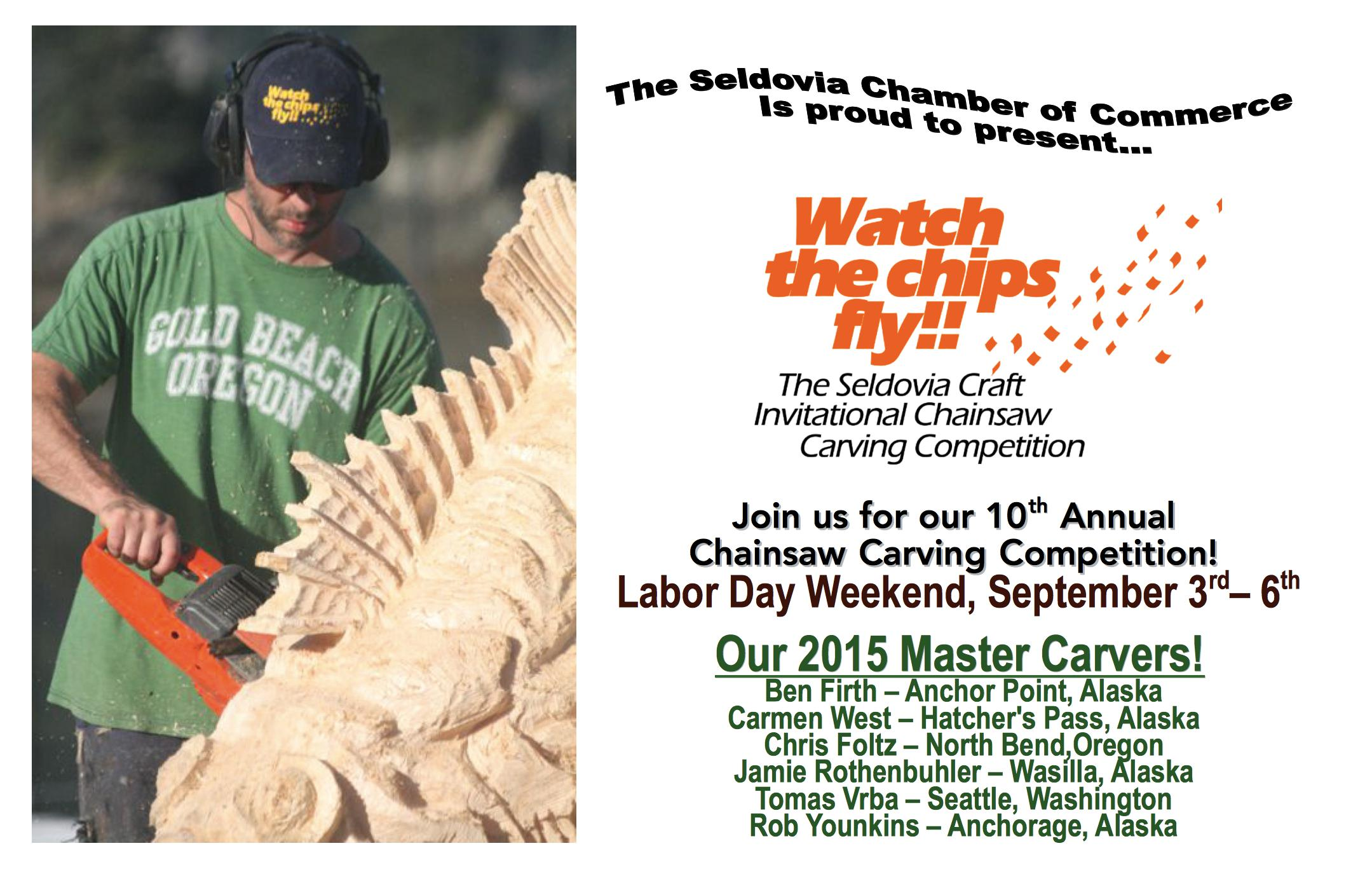 Chainsaw carving competition seldovia